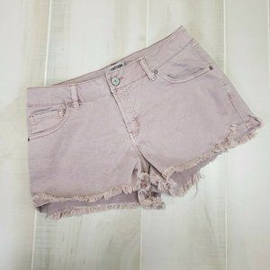 Refuge Women's Cut Off Denim Shorts SZ 8 Pink